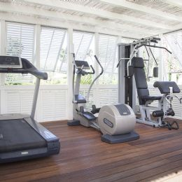 Fitness area with Technogym equipment